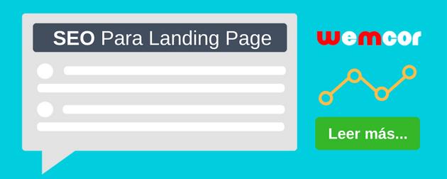 seo para landing page